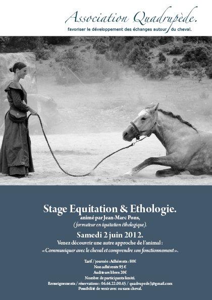 Journée équitation et éthologie Samedi 2 juin 2012. affichestageok11