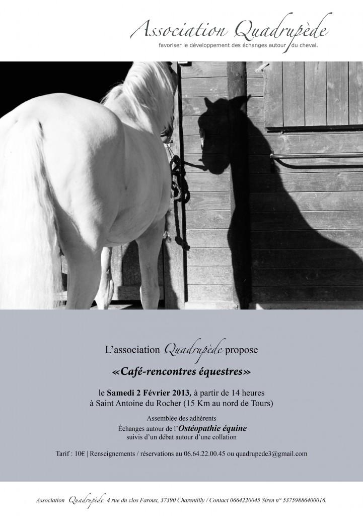 café rencontres équestres du 2 février 13.  flyer2-02-13b