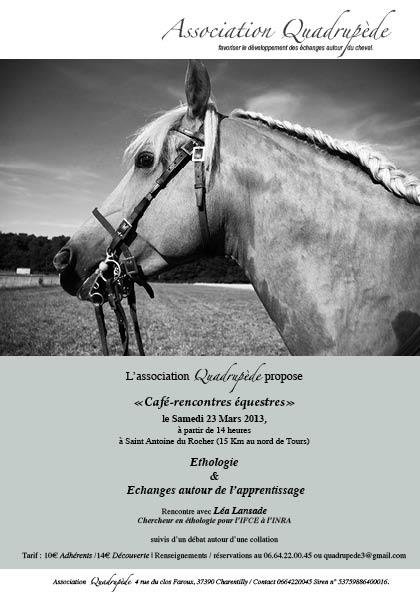 Prochain café rencontres équestre éthologie et apprentissage avec Léa Lansade. cafe-rencontres-a5-23-03-12idiffusion